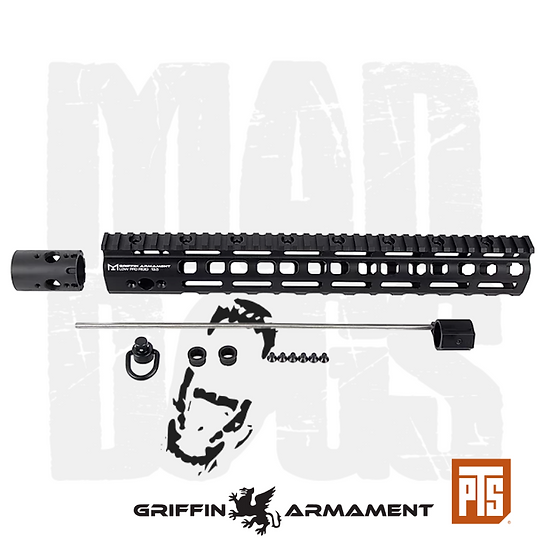 PTS Griffin Armament Low Pro RIGID M-LOK Rail 13.5""