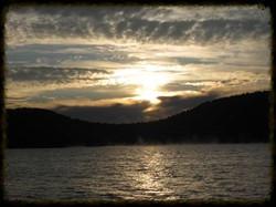 Sunrise looking at Bear Mountain