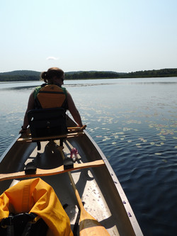 Paddling towards Chaumont Pond