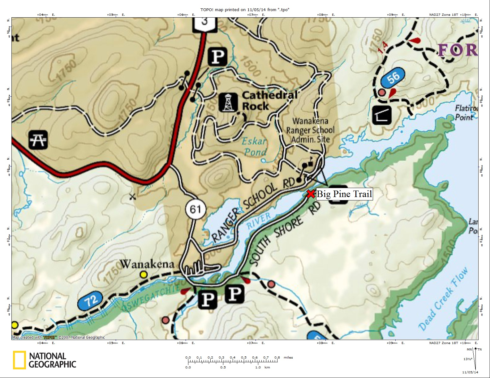 Big Pine Trail map