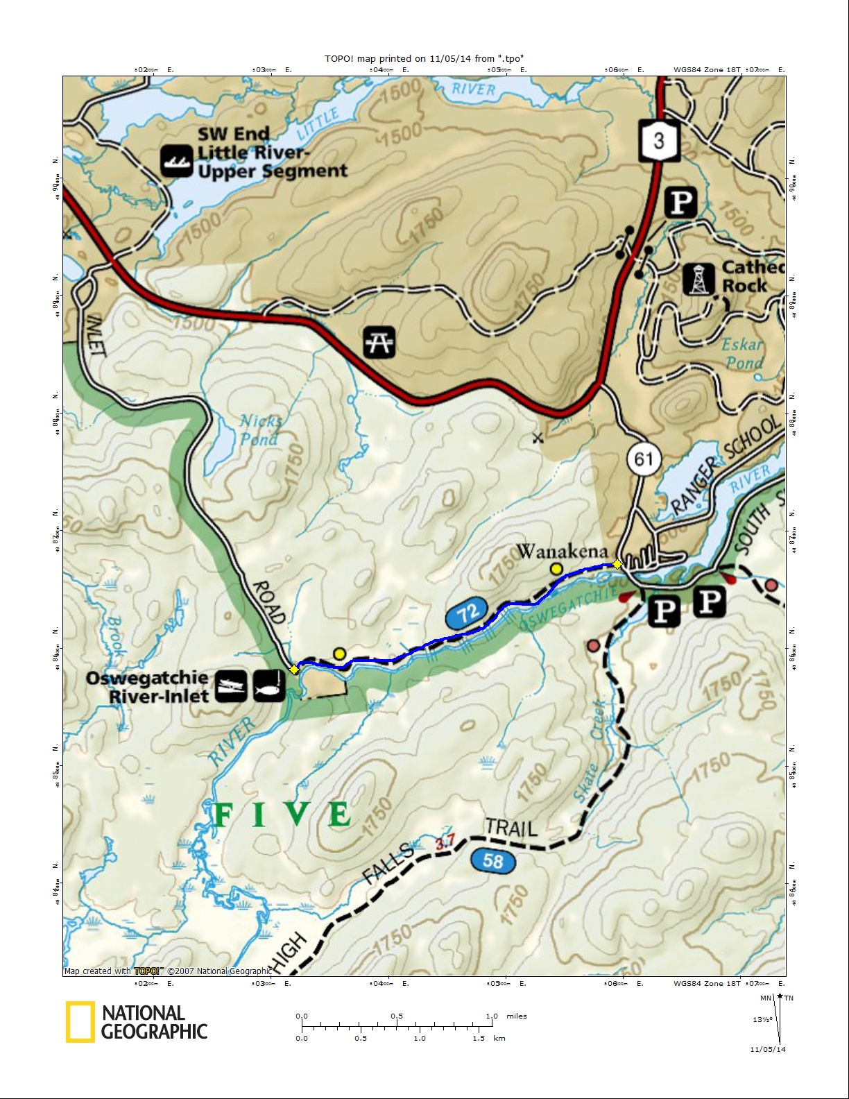 Moore Trail Map