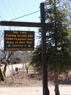 Star Lake Access Sign