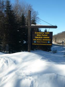 Burntbridge Pond Trail Head Sign