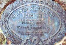 Plaque in honor of John Griffin