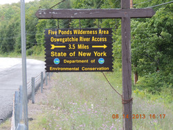 Sign on NYS HWY 3 to Inlet location