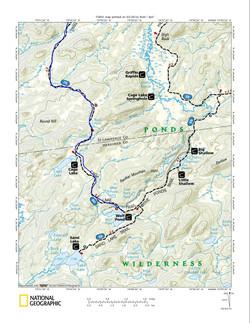 Five Ponds Wilderness Star Lake Map