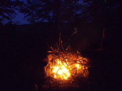 Camp fire at High Rock