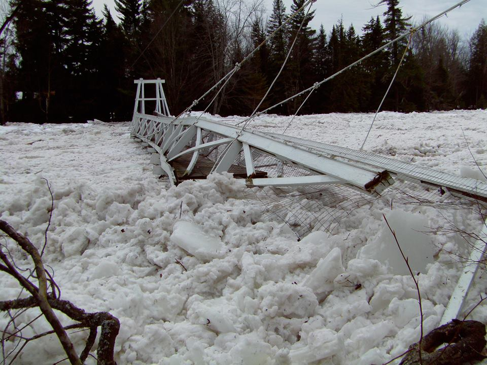 Ice dam devastation