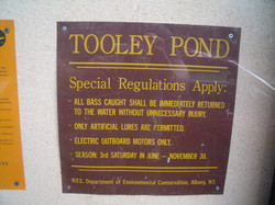 Tooley Pond Fishing Regulations