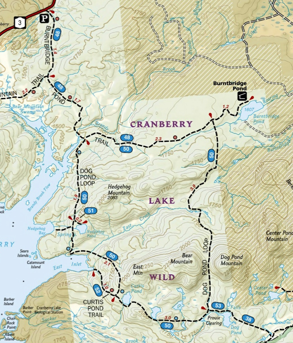 Cranberry Lake Wild Forest Map