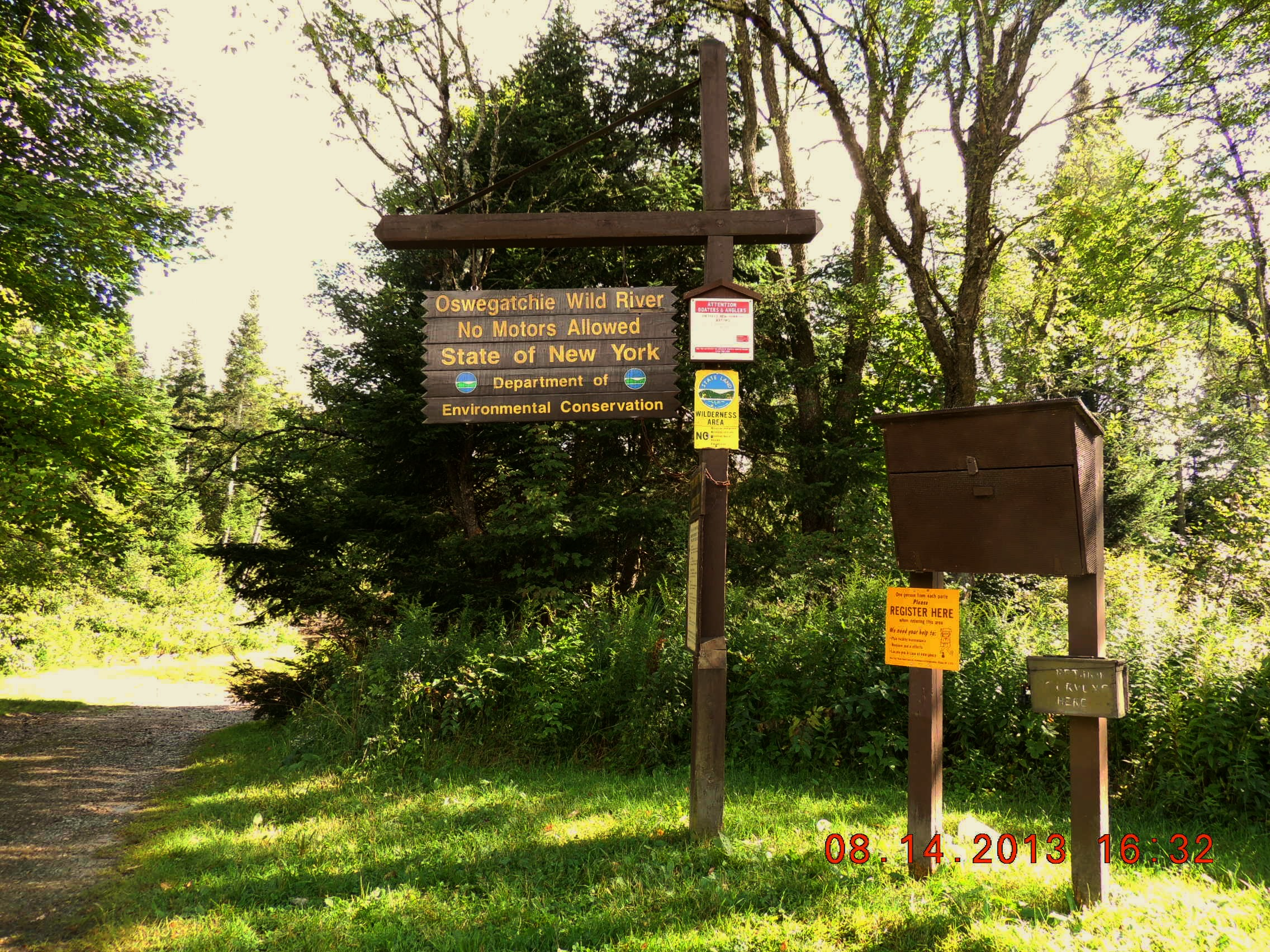 Trail Head Sign at the Inlet access