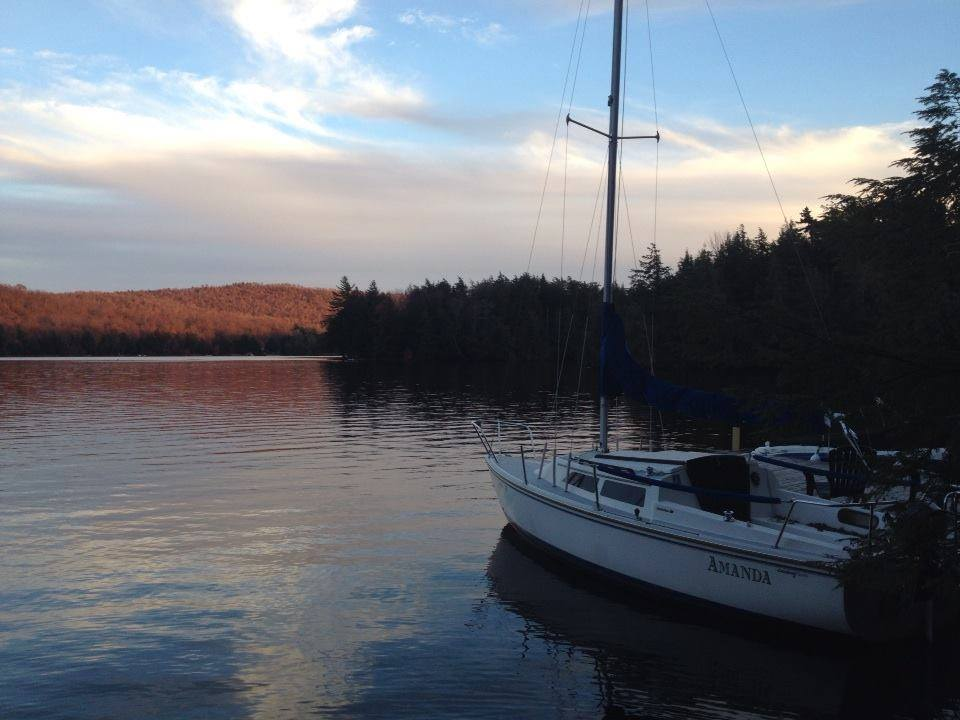 Sailboat on Cranberry Lake