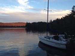 Sailboat on Cranberry Lake