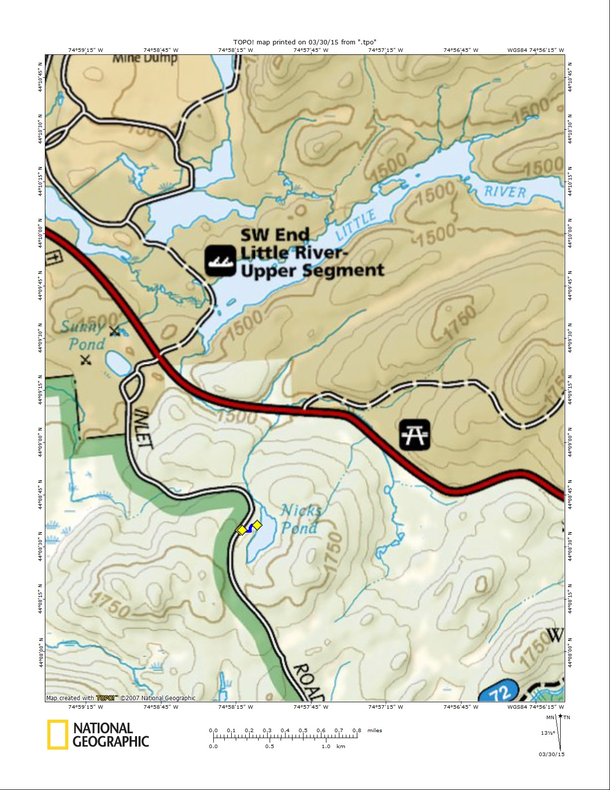Nick's Pond Map