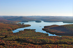 Aerial view of Cranberry Lake
