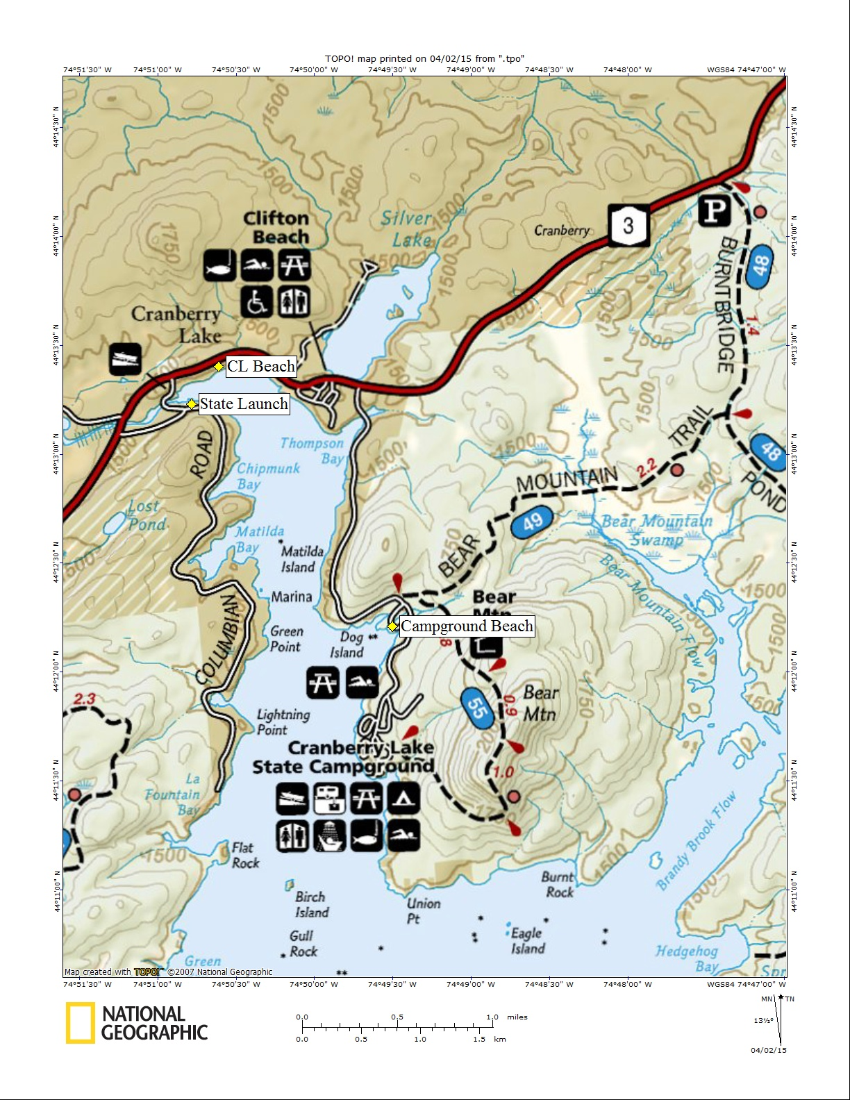 "CL ""Boating Access Locations"" Map"
