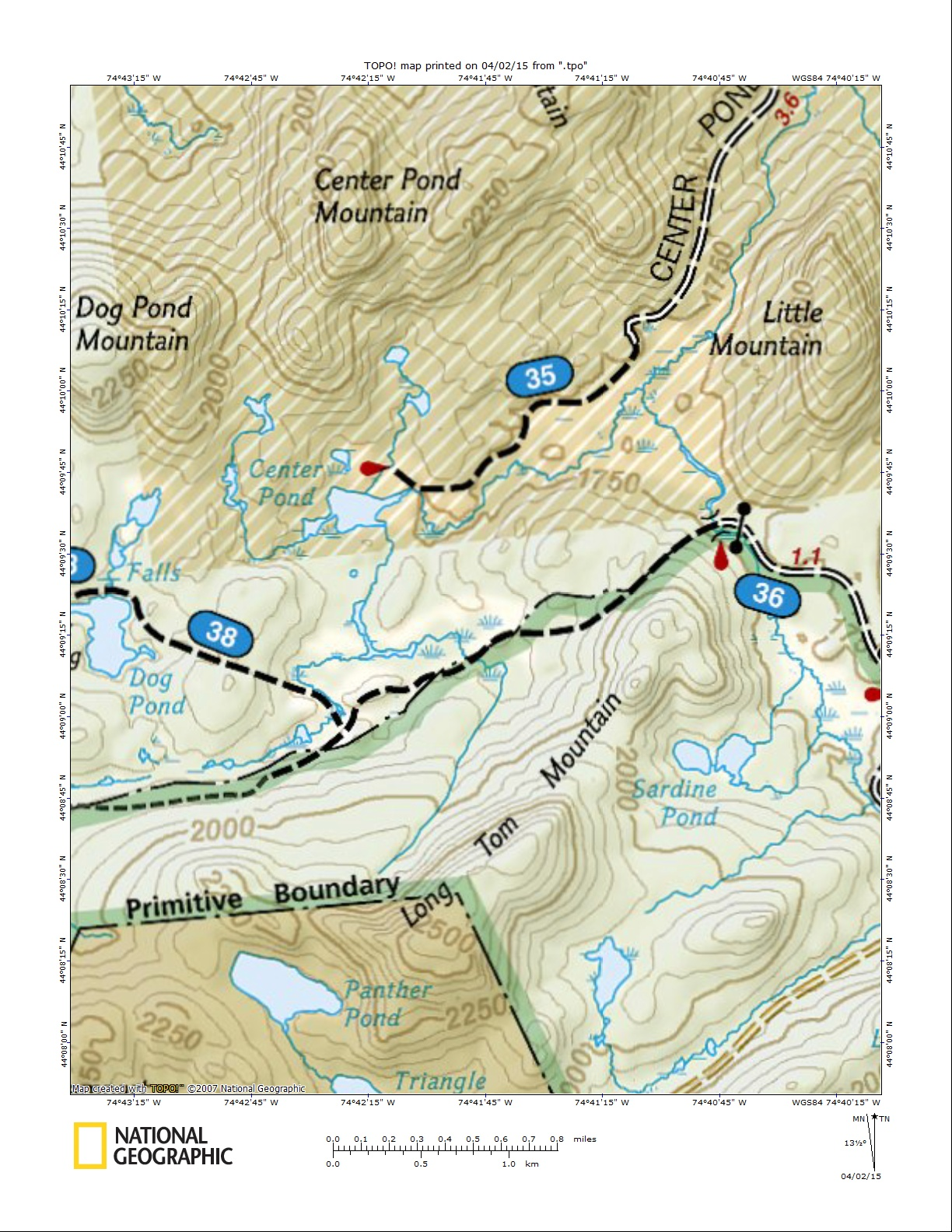 Horseshoe Lake Access Trail Map