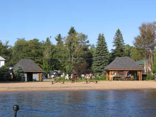 Clifton Town Beach from the lake