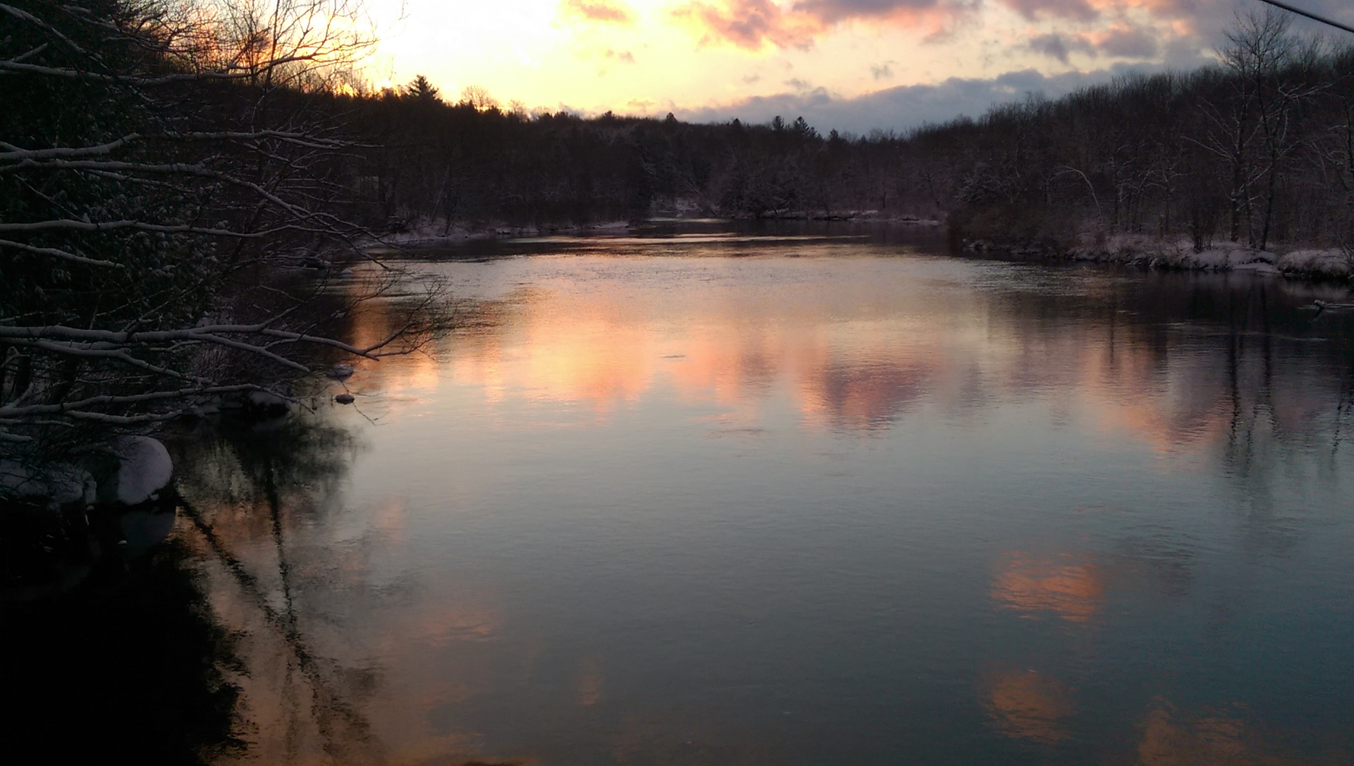 Sunrise over the Oswegatchie Winter