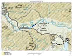 Copper Rock Falls Map