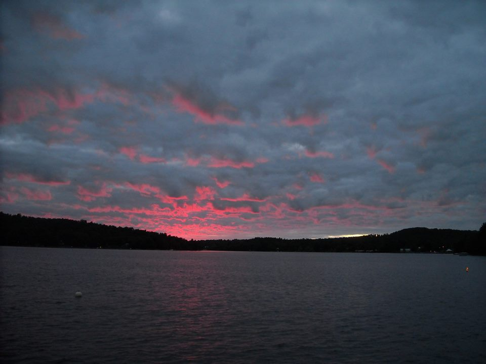 Pink Sky Sunrise over Cranberry Lake