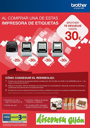 Impresora de etiquetas Brother QL-700, QL-800, QL810W, QL820NWD