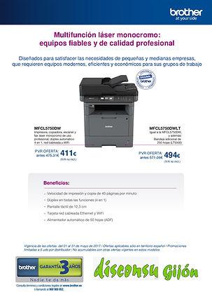 Impresora Brother MFC-L5750DW y DWLT