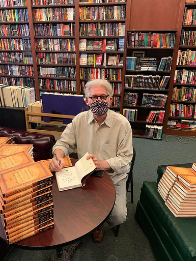 Bradford Morrow signing The Forger's Daughter at Mysterious Bookshop in New York City