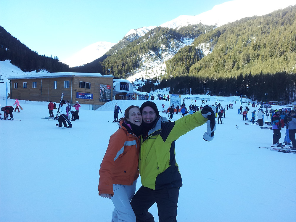חופשת סקי המשותפת לפני כל הילדים. מאז חולמים לחזור לזה והפעם פרגנתי לבן זוג
