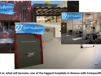 Covid-19 Hospital in Athens, Greece with 4EVAC