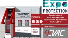 4EVAC, EXPOPROTECTION, 6-8 Novembre 2018 - Paris, porte de Versailles.