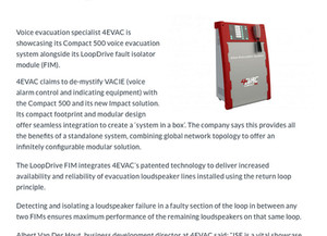 4EVAC Compact 500 - A clear voice in a crisis.