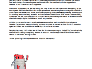 4EVAC Statement on COVID-19