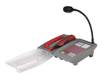 4EVAC-4E-FMTC-Brandweermicrofoon met touchscreen en zwanenhalsmicrofoon voor commercieel gebruik
