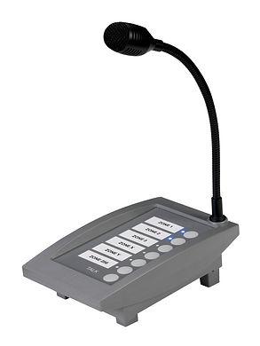 4E-CMP-pupitre d'appel commercal avec microphone col de cygne - commande par boutons