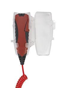 4EVAC-4E-FMP-microphone pompier mural-couvercle ouvert