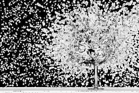 An exploding glass