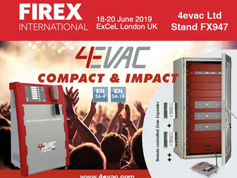 FIREX UK - 4evac Ltd - 18-20 June  2019 - Stand FX947