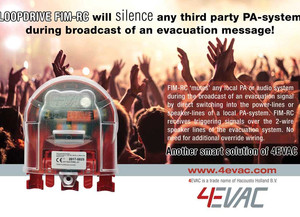 LOOPDRIVE FIM-RC will silence any third party PA-system during broadcast of an evacuation message!