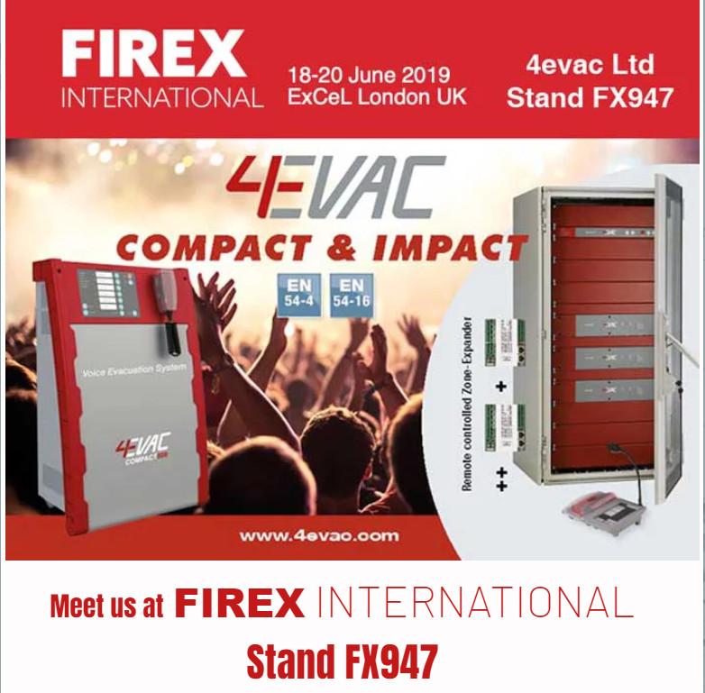 4evac will atend FIREX exhibition 2019
