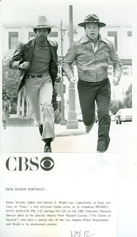CBS promotion photo of Enos series