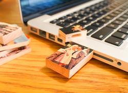 Wood USB 4