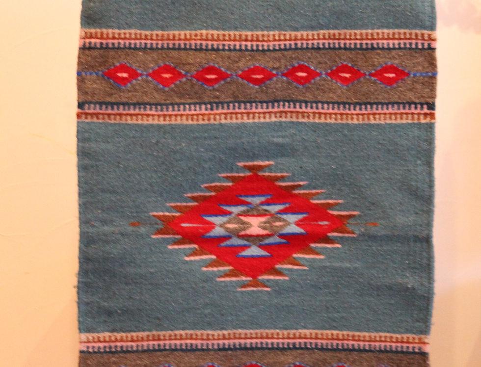 Casa Zapoteca Original Azul x Rojo (50x70cm)