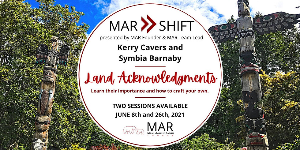 Crafting Your Personal  Land Acknowledgment with MAR CANADA