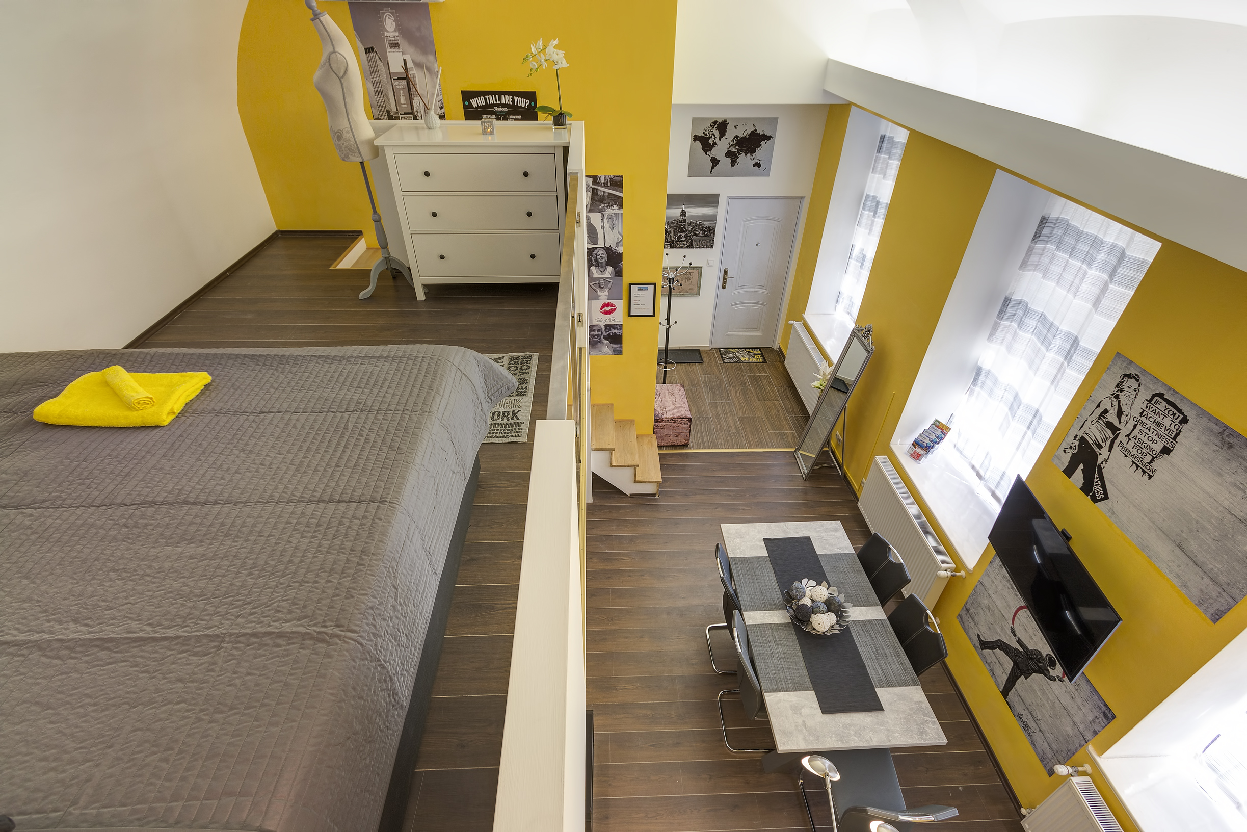 The large loft room