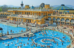 Szechenyi bath nearby