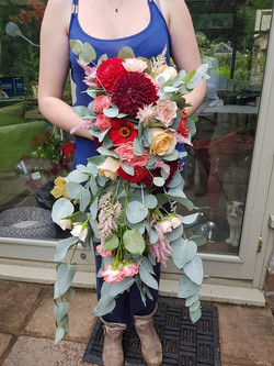 Huge Cascading Bouquet