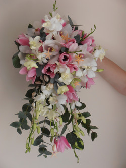 Tulip and Orchid Shower Bouquet