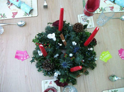Candle ring table decoration.