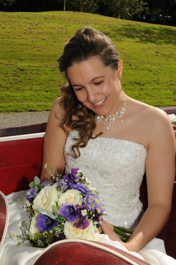 Beautiful Bride and her Bouquet